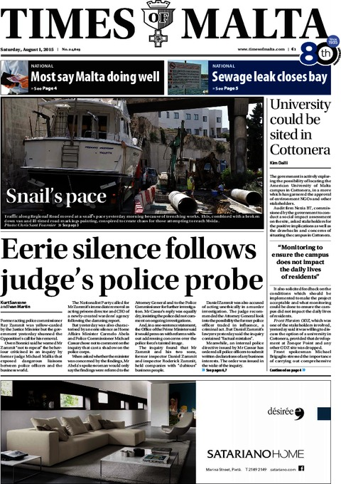 Times of Malta e-Paper - Friday, July 31, 2015