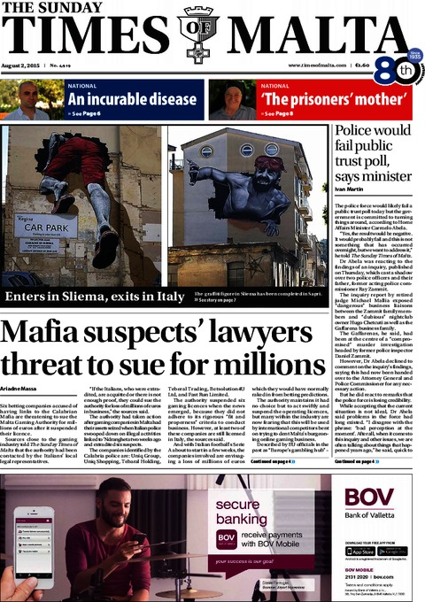 The Sunday Times of Malta e-Paper - Saturday, August 1, 2015