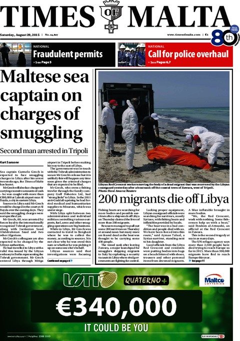 Times of Malta e-Paper - Friday, August 28, 2015