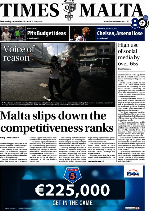Times of Malta e-Paper - Tuesday, September 29, 2015