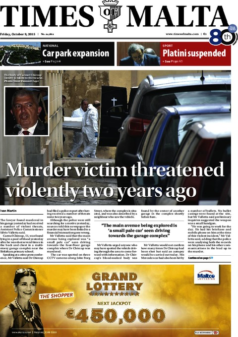 Times of Malta e-Paper - Friday, October 9, 2015