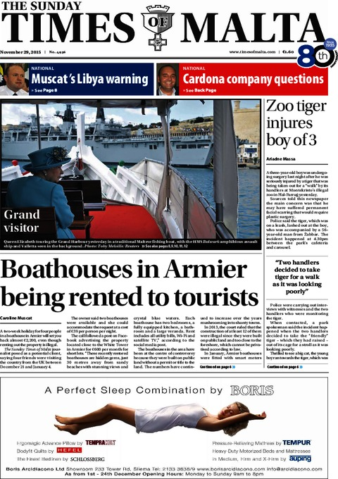 The Sunday Times of Malta e-Paper - Saturday, November 28, 2015