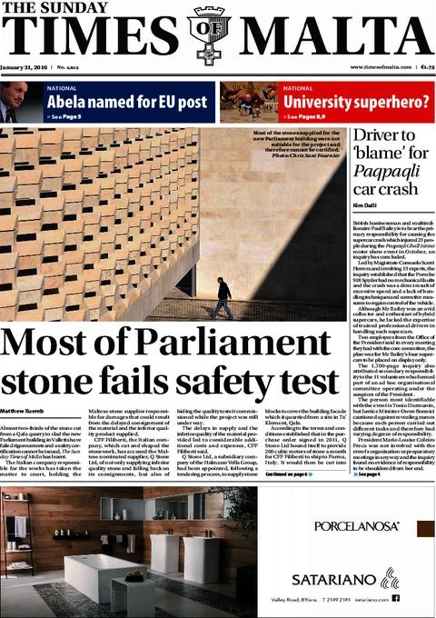 The Sunday Times of Malta e-Paper - Sunday, January 31, 2016