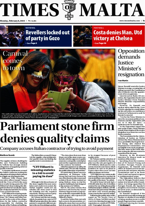 Times of Malta e-Paper - Sunday, February 7, 2016