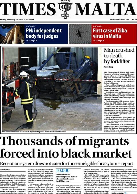 Times of Malta e-Paper - Thursday, February 11, 2016