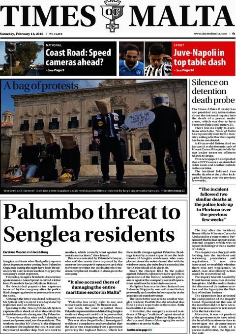 Times of Malta e-Paper - Friday, February 12, 2016