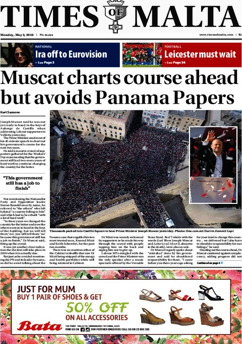 Times of Malta e-Paper - Sunday, May 1, 2016