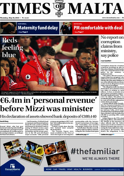 Times of Malta - Thursday, May 19, 2016