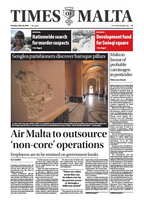 Times of Malta - Tuesday, May 24, 2016