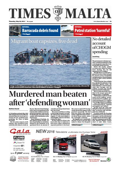 Times of Malta - Thursday, May 26, 2016