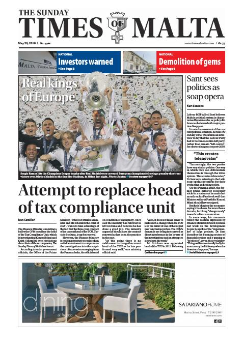The Sunday Times of Malta - Sunday, May 29, 2016