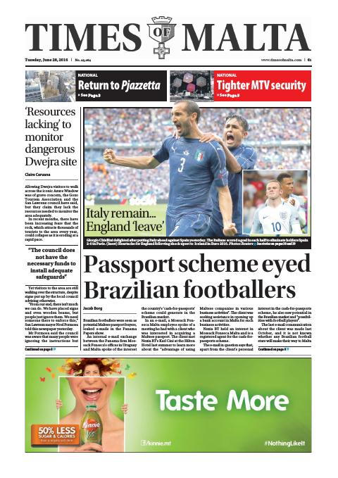 Times of Malta - Tuesday, June 28, 2016
