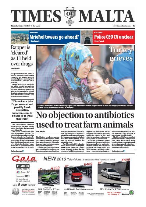 Times of Malta - Thursday, June 30, 2016