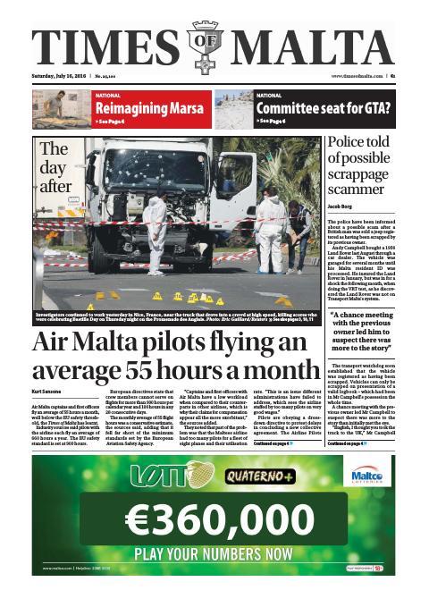 Times of Malta - Saturday, July 16, 2016