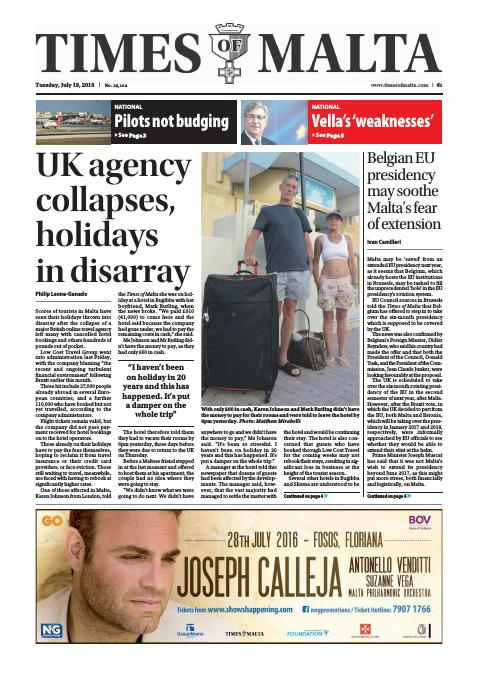 Times of Malta - Tuesday, July 19, 2016