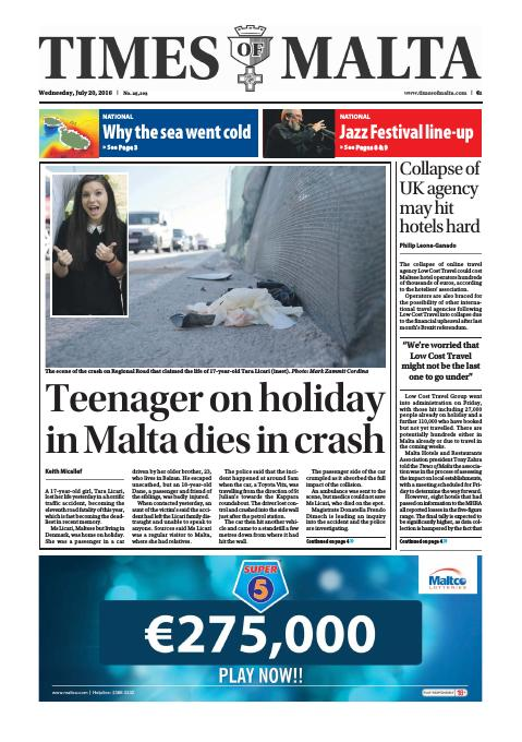 Times of Malta - Wednesday, July 20, 2016