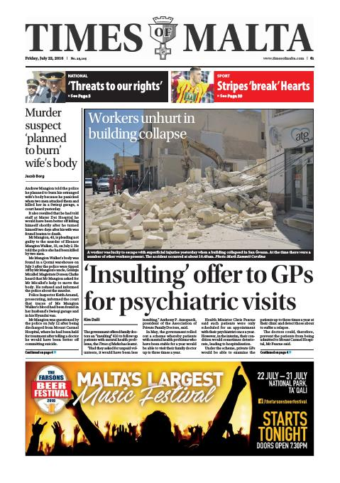 Times of Malta - Friday, July 22, 2016