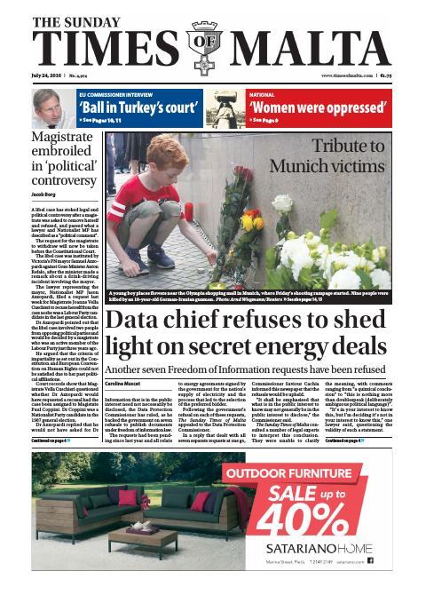 The Sunday Times of Malta - Sunday, July 24, 2016