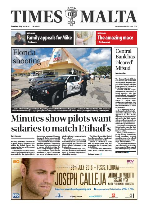 Times of Malta - Tuesday, July 26, 2016