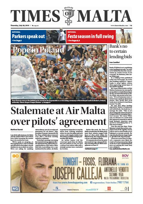 Times of Malta - Thursday, July 28, 2016
