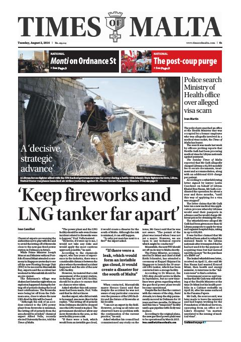 Times of Malta - Tuesday, August 2, 2016