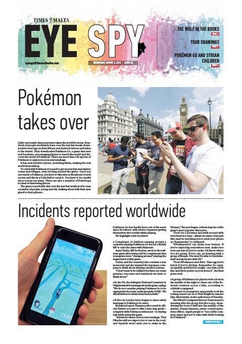 Eye Spy - Wednesday, August 3, 2016