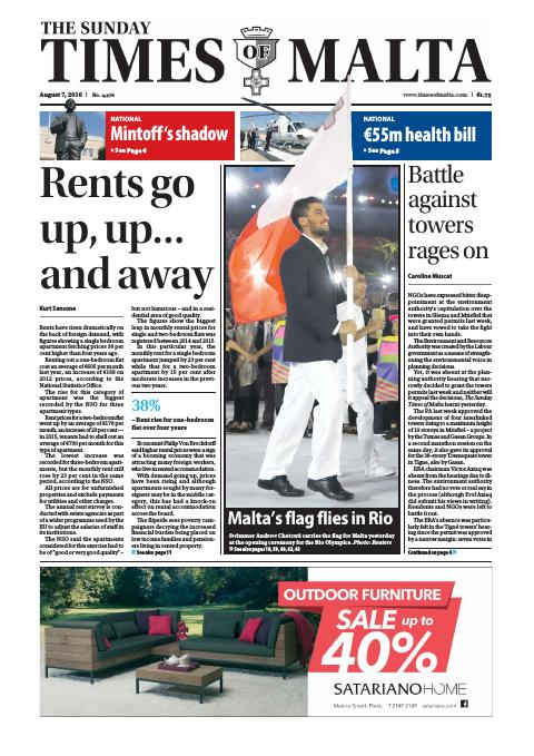 Times of Malta - Sunday, August 7, 2016