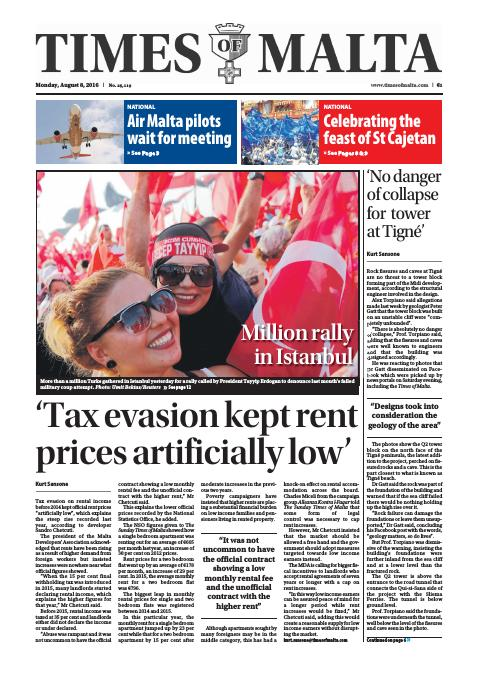 Times of Malta - Monday, August 8, 2016