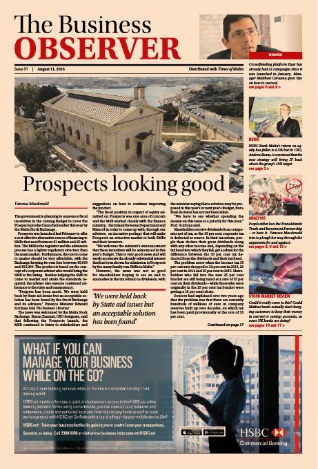 Business Observer - Thursday, August 11, 2016