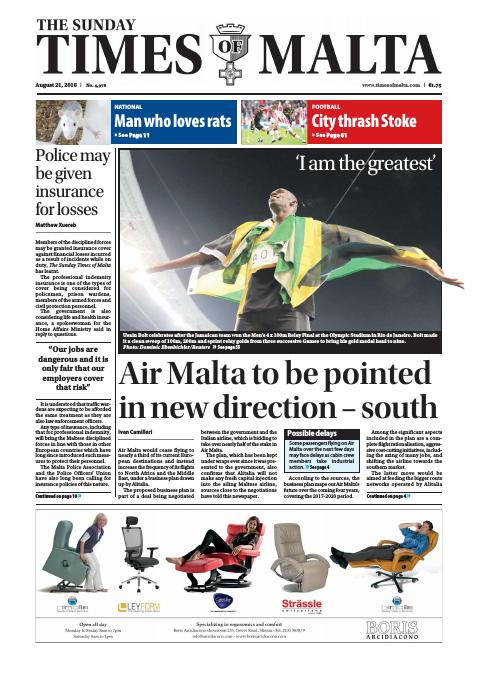 Times of Malta - Sunday, August 21, 2016