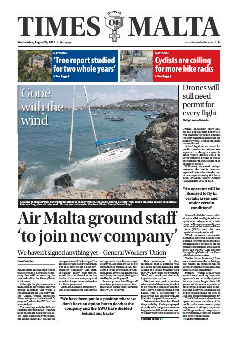 Times of Malta - Wednesday, August 24, 2016