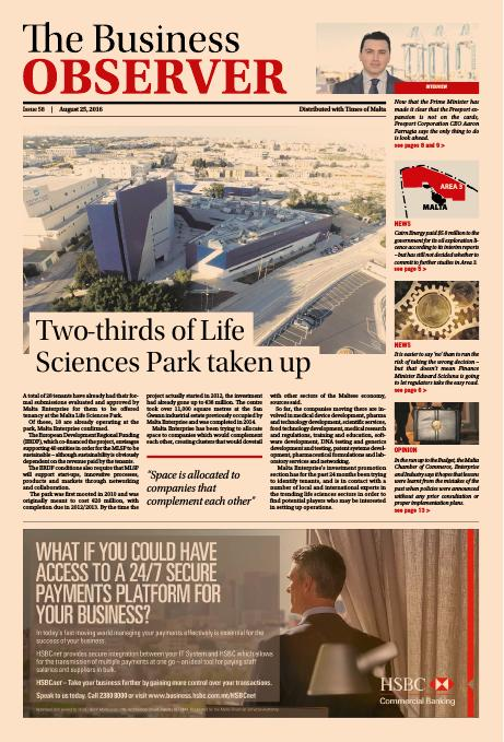 Business Observer - Thursday, August 25, 2016