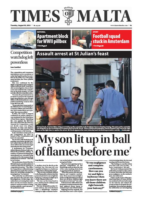 Times of Malta - Tuesday, August 30, 2016