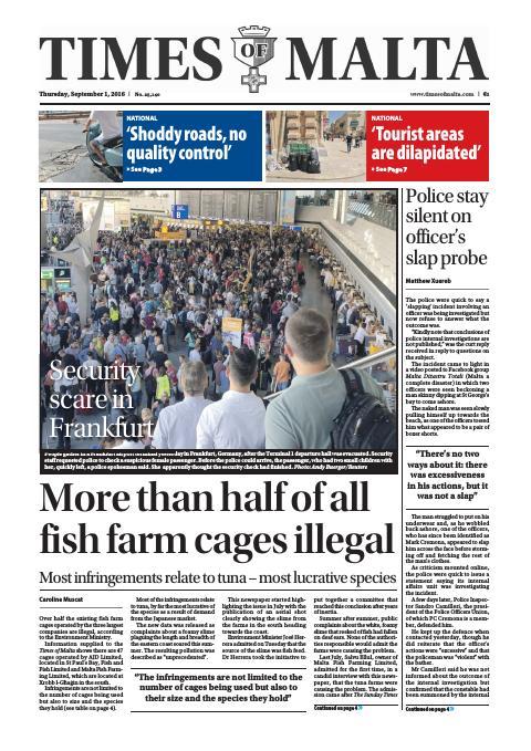 Times of Malta - Thursday, September 1, 2016