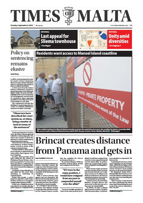 Times of Malta - Tuesday, September 6, 2016