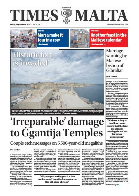 Times of Malta - Friday, September 9, 2016