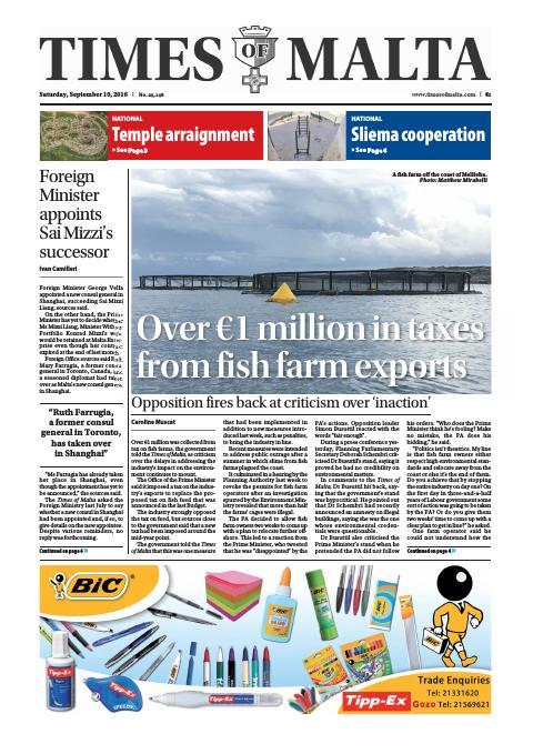 Times of Malta - Saturday, September 10, 2016