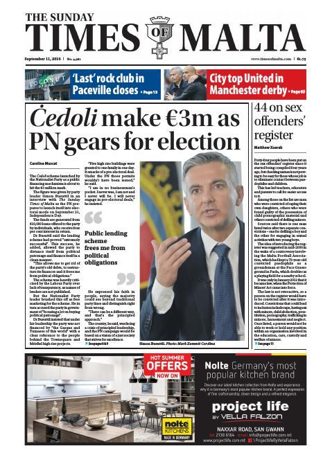 Times of Malta - Sunday, September 11, 2016