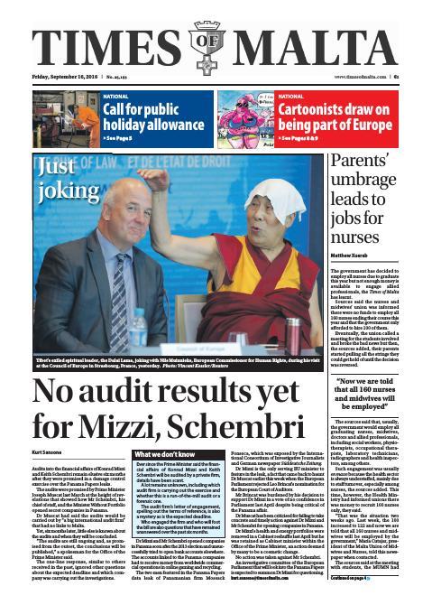 Times of Malta - Friday, September 16, 2016