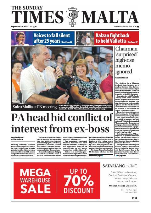 Times of Malta - Sunday, September 18, 2016