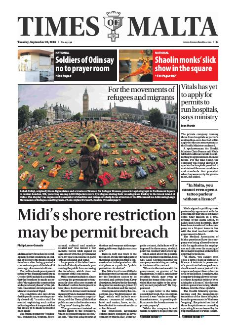 Times of Malta - Tuesday, September 20, 2016