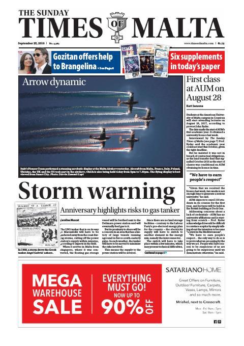 Times of Malta - Sunday, September 25, 2016