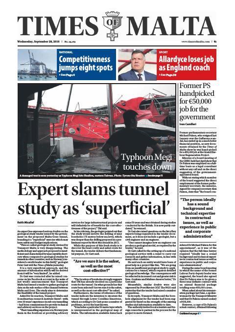 Times of Malta - Wednesday, September 28, 2016