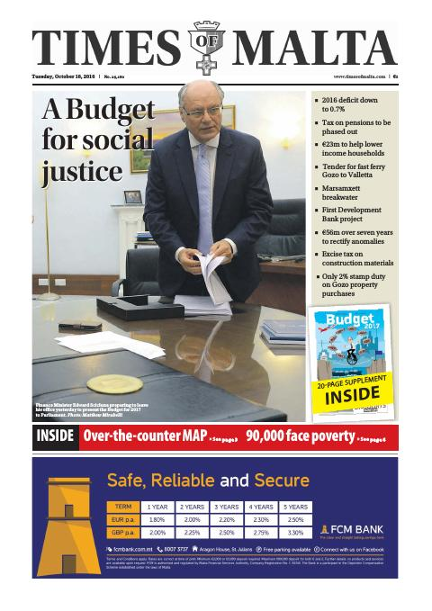 Times of Malta - Tuesday, October 18, 2016