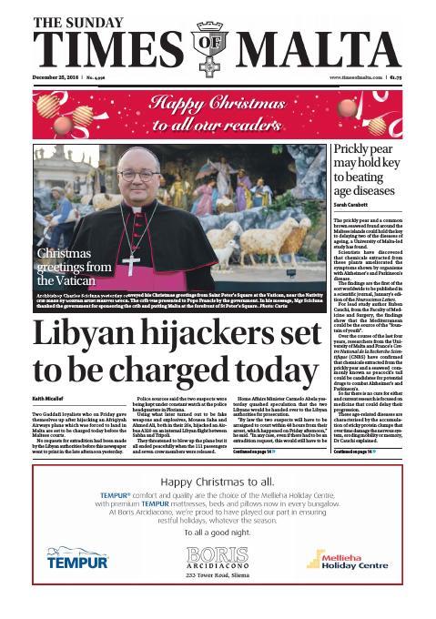 Times of Malta - Sunday, December 25, 2016