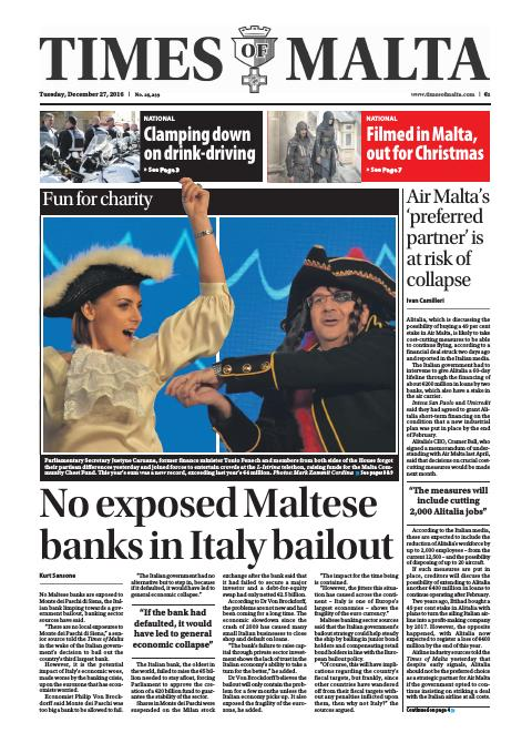 Times of Malta - Tuesday, December 27, 2016