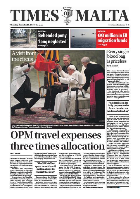 Times of Malta - Thursday, December 29, 2016
