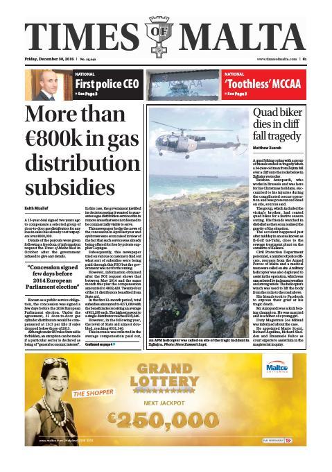 Times of Malta - Friday, December 30, 2016
