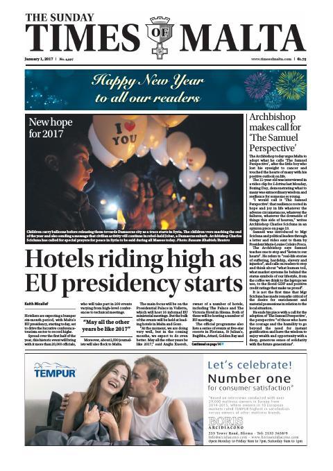 Times of Malta - Sunday, January 1, 2017