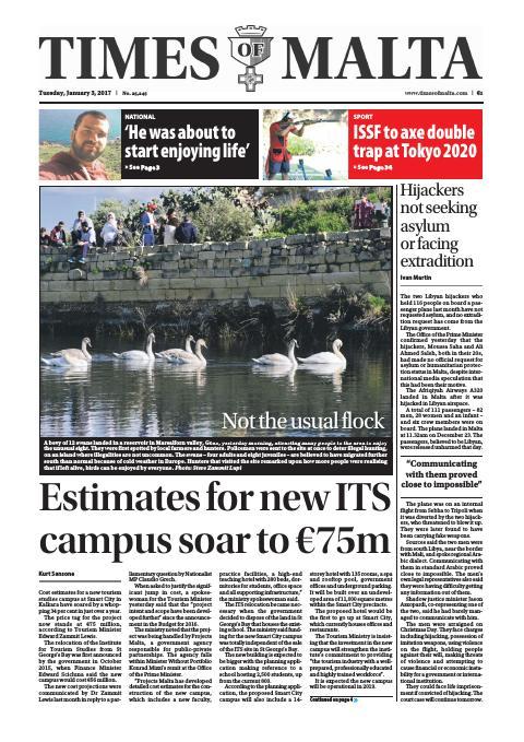 Times of Malta - Tuesday, January 3, 2017